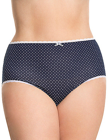 Sassy cotton high cut panty with lace