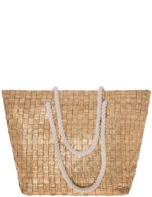 Metallic basket weave tote bag by Lane Bryant