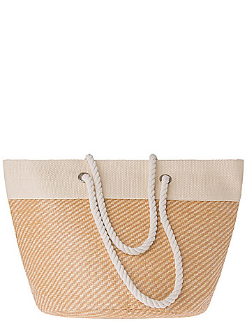 Basketweave Tote Bag by Lane Bryant