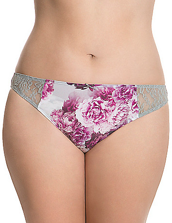 Dazzler thong panty with lace
