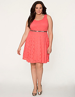 White Skater Dress Plus Size Plus Size Lace Skater Dress by