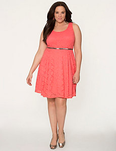 Lace skater dress by LANE BRYANT