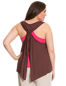 Lane Collection tie-back tank by LANE BRYANT