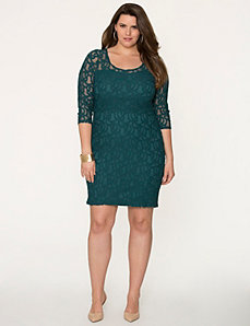 Lace illusion dress by LANE BRYANT