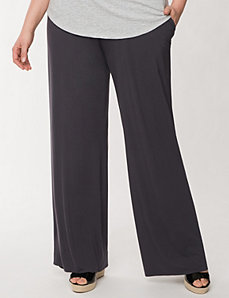 Wide leg knit pant by LANE BRYANT