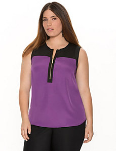 Zipped colorblock shell