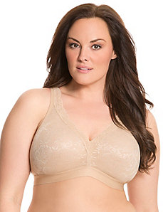 Cotton lace no-wire bra
