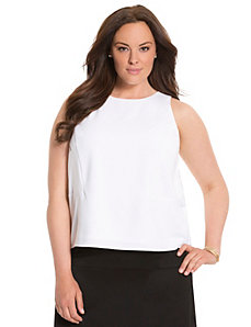 Lane Collection satin block shell by LANE BRYANT