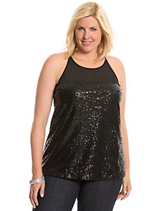 Sequin illusion tank