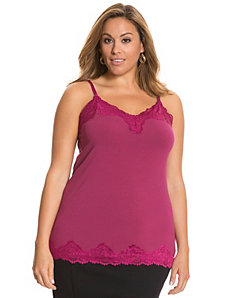 Essential lace trim cami by Lane Bryant