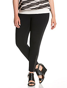 Zip-ankle ponte legging