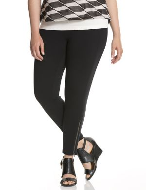 Control Tech slimming zip-ankle ponte skinny