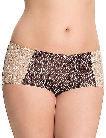 Dazzler boyshort panty with lace