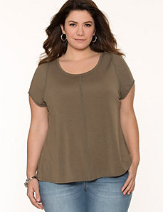 Chiffon back tee by LANE BRYANT