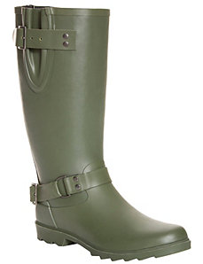 Back zip rain boot