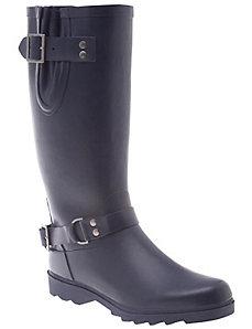 Back zip rain boot