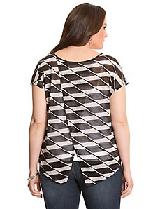 Striped envelope top by LANE BRYANT