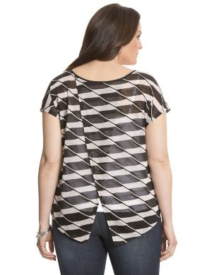 Striped envelope top