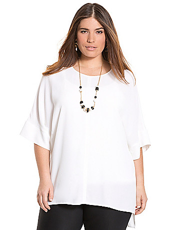 Draped dolman blouse