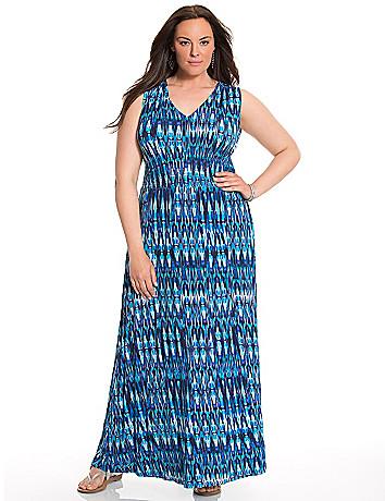Smocked waist maxi dress