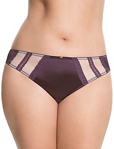 Satin & lace tanga panty
