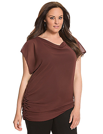 Lane Collection draped woven top