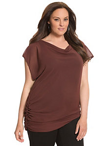 Lane Collection draped woven top by LANE BRYANT
