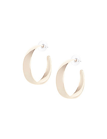 Wide half hoop earrings by Lane Bryant