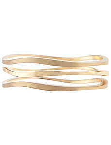 Curved bracelet trio by Lane Bryant