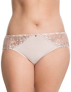 Contrast embroidered hipster panty