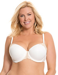 Smooth boost demi bra with lace