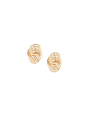 Link knot earrings by Lane Bryant