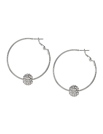 Fireball hoop earrings by Lane Bryant