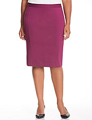 Seamed ponte pencil skirt