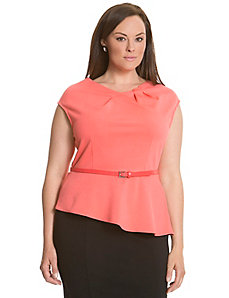 6th & Lane ponte peplum top