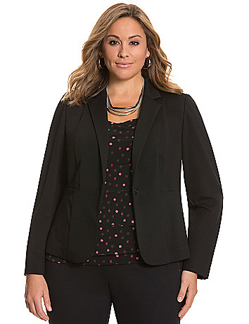 Ponte fitted jacket