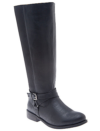 Stretch back riding boot