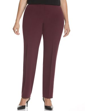 Straight fit Tailored Stretch straight leg pant