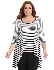 Striped knit tunic by LANE BRYANT