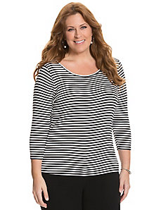 3/4 sleeve delicate ribbed tee by Lane Bryant