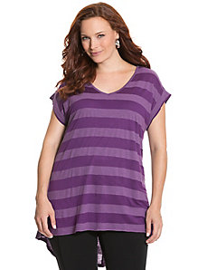 Shadow stripe high-low tunic