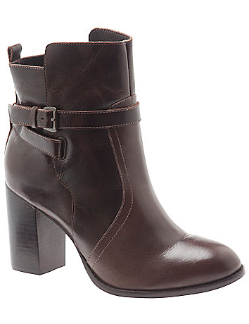 Cara leather city heel ankle boot