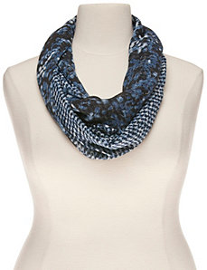 Floral & houndstooth infinity scarf