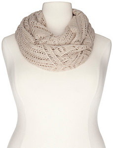 Pointelle infinity scarf