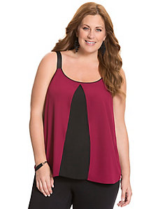 Colorblock layered cami