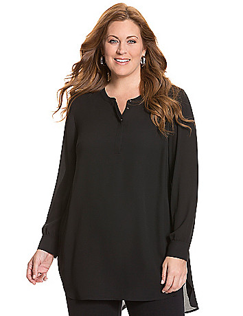 Split back tunic blouse