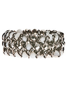 Faceted bead stretch bracelet by Lane Bryant