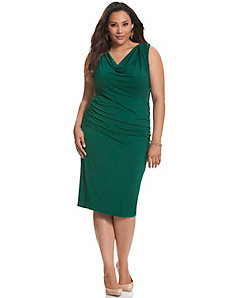 Control Tech slimming cowl dress