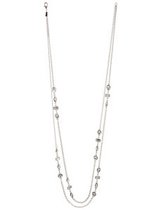 Geo stone 2-row necklace by Lane Bryant