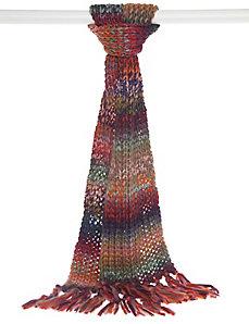 Marled knit scarf